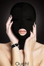 Cagoule Submission - Ouch! - En privant votre partenaire de ses sens tout en gardant sa bouche accessible, c'est la cagoule de soumission idéale !